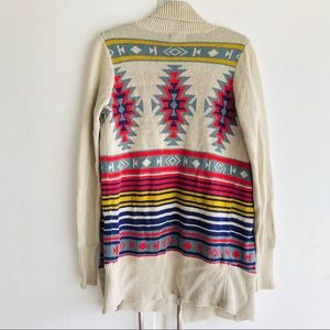 Urban Outfitters Ecote Aztec Print Cardigan